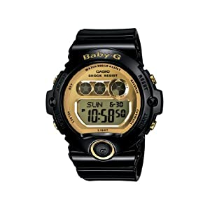 41LpkmV6HnL. SS300  - Casio Women's BG6901-1 Baby-G Black Resin and Gold-Tone Accented Large Digital Sport Watch