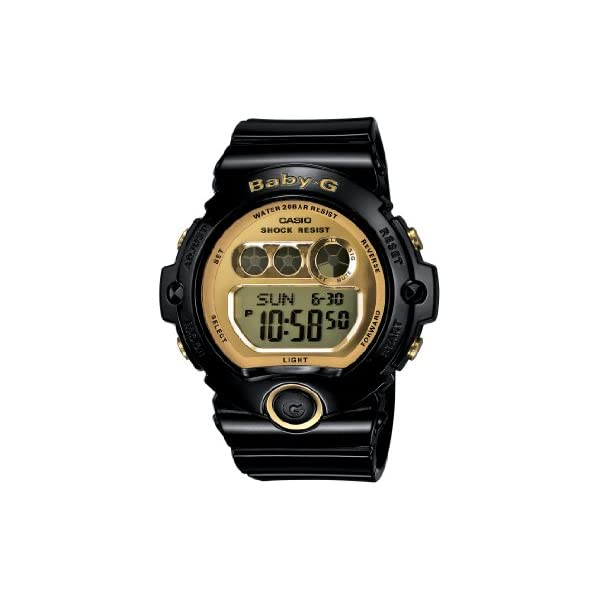 41LpkmV6HnL. SS600  - Casio Women's BG6901-1 Baby-G Black Resin and Gold-Tone Accented Large Digital Sport Watch