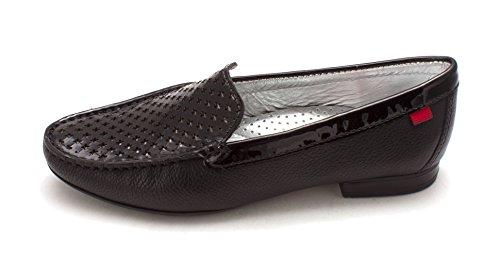 Toe York Joseph Closed st Marc Womens Black Grainy Green Loafers Patent New Y0EEw