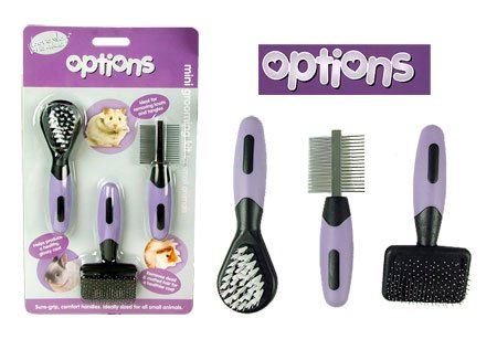 (Boredom Breakers) Options Mini Groomer Kit for Small Animals CP-JBWK-QIUH