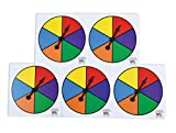 Learning Advantage Six-Color Spinners - Set of 5