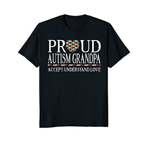 Proud Autism Grandpa Shirt - Autism Awareness Day T shirt