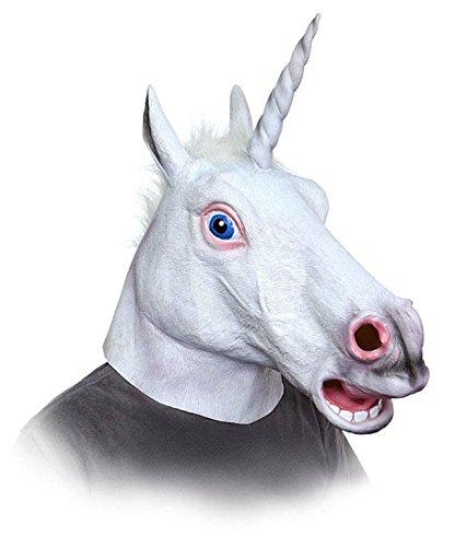 Unicorn White Horn Fancy Dress Head Ears Mask Cosplay Stag Hen Party Festival]()