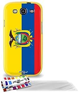 """Carcasa Flexible Ultra-Slim SAMSUNG GALAXY S3 / I9300 de exclusivo motivo [Ecuador Bandera] [Amarillo] de MUZZANO  + 3 Pelliculas de Pantalla """"UltraClear"""" + ESTILETE y PAÑO MUZZANO REGALADOS - La Protección Antigolpes ULTIMA, ELEGANTE Y DURADERA para su SAMSUNG GALAXY S3 / I9300"""