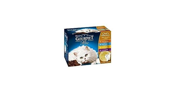 Gourmet Perle gato adulto comida con Boas de la, el pez, el pato y ...