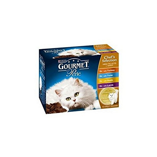 (Gourmet Perle Adult Cat Food with Turkey, Tuna, Duck & Lamb 85g 12 Pack (1.02kg) (Pack of 2))