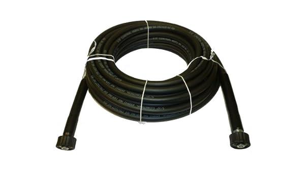 4,000 PSI CLEANSTREAM 0,79 cm x 1524 cm (22 mm x 22 mm) negro NonMarring hidrolavadora Made in USA manguera: Amazon.es: Jardín