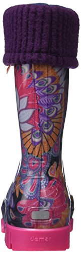 Toughees Unisex-Kinder Character Welly With Removable Sock Gummistiefel Purple (Purple Peacock)