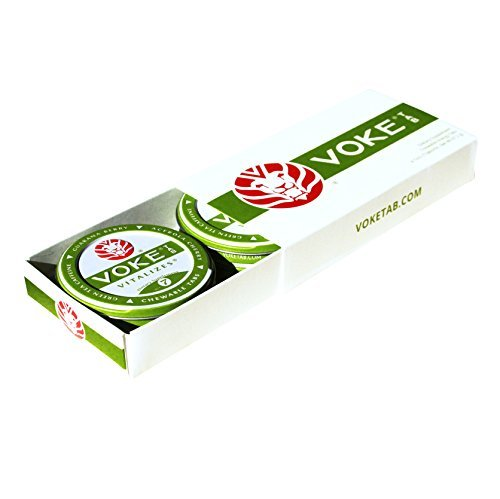 (Voke Tab - Natural Energy from Leaf & Berry, 4 Tin Box by VOKE TAB)