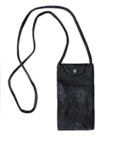 Shoulder Silk Cell Therapy with Black Purse Phone Strap Small Crossbody Silk Oq8Zwx6
