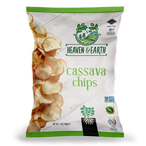 Heaven & Earth Cassava Chips, 5oz (2 Pack) Gluten Free, Non GMO