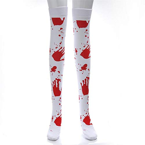 Huntty Stockings Blood Printed Halloween Print Long Tube
