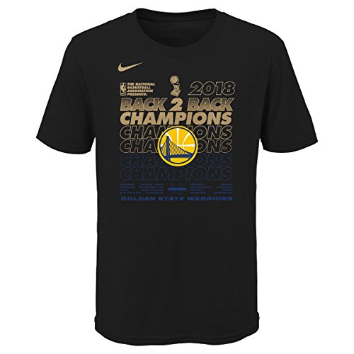 Outerstuff Golden State Warriors Youth 2018 NBA Finals Champions Locker Room T-Shirt (Youth Large 14/16) by Outerstuff