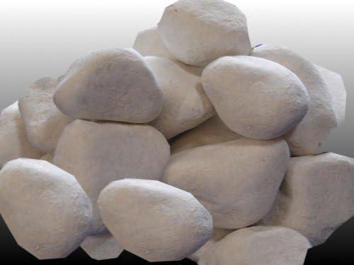 10 piedras decorativas blancas para chimeneas/ estufas: Amazon.es: Jardín