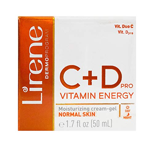 Lirene C + D Vitamin Energy PRO. Moisturizing cream-gel. Normal Skin. Day/Night. 1.7 FL OZ