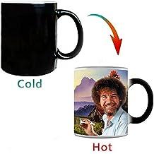 Bob Ross Coffee Mug, 12 oz Heat Changing Painting Mug Bob Ross Color Changing Cup Best Gift by ANWOO