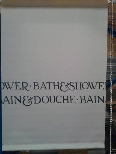 Cortina de ducha 75 x 185 cm 1783 mampara enrollable para ducha ...
