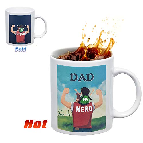 Dad Gifts Coffee Mug, Heat Sensitive Color Changing Mug, magic Art Cup,11 Ounce White Ceramic Tea Cup - gifts for dad, Father's Day Gifts Idea.]()