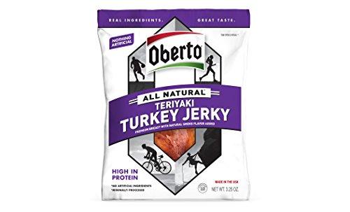 Oberto All Natural Teriyaki Turkey Jerky, 3.25 Ounce