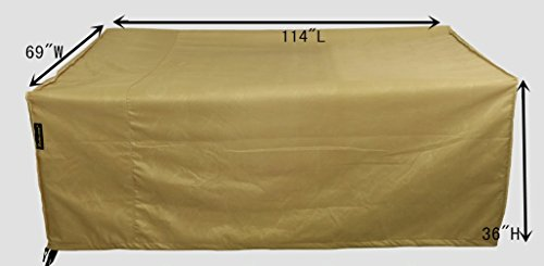 Hentex Cover 5500 Patio Rectangular/Oval Table & Chair Set Cover, Water Resistant, Breathable, Scratch-free Soft Interior, Advanced Functional 3-layered Fabric (114
