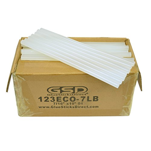 Economy Hot Melt Glue Sticks 7/16'' X 10'' 125 Sticks 7 lbs bulk by GlueSticksDirect.com