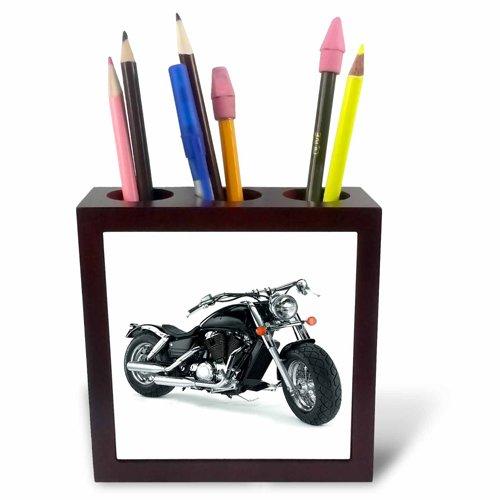 3dRose ph_4488_1 Tile Pen Holder Picturing Harley-Davidson No.174 Motorcycle (Pencil Holder Pen Tile)