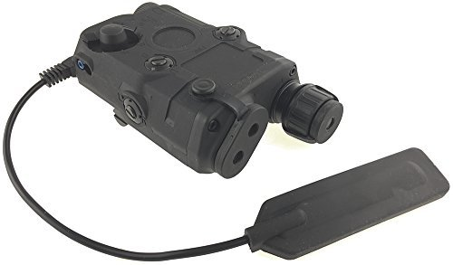 FMA Polymer PEQ-15 Style Battery Box Red Laser Sight + LED Flashligh for AEG Airsoft - Black