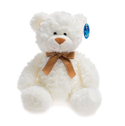 WILDREAM Stuffed Teddy Bear, Plush Teddy Bear, White, 11 Inches from WILDREAM