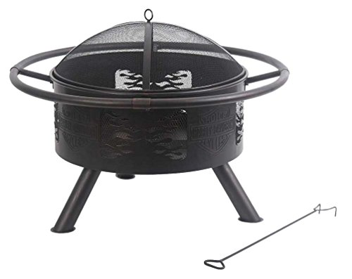 Cheap Harley-Davidson Fire Pit with Screen Cover
