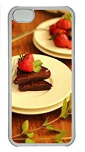 iPhone 6 plus 5.5 Case, Strawberry Chocolate Desert Case for iPhone 6 plus 5.5 PC Material Transparent WANGJING JINDA
