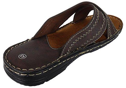 Slides Smart Sandal Brown Gensen Beach Leather On New Summer Sandals Mens 500 Mules Shoes Slip OqpPHUp