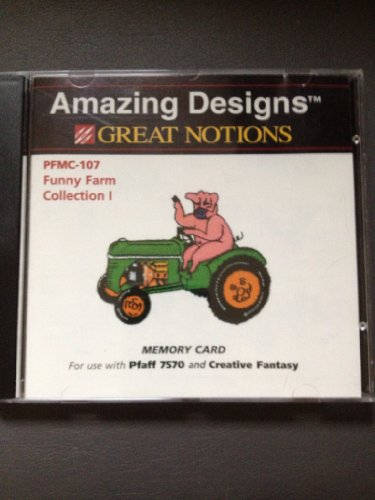 Amazing Designs Great Notions Funny Farm Embroidery Memory Card for Pfaff 7570 and Creative Fantasy