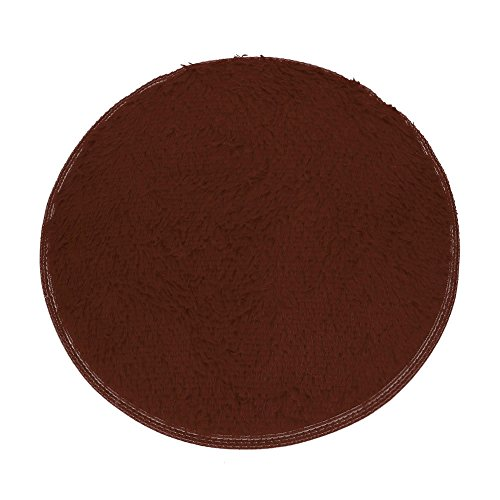 (Clearance Tuscom Coral Fleece Round Rug Non-Slip Mat for Soft Bath Bedroom Floor Shower(10 Colors) (Coffee))