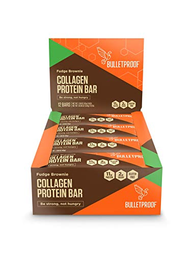Bulletproof Bars Collagen Protein, Perfect Keto Diet Snack Bar For Men And Women (Fudge Brownie)