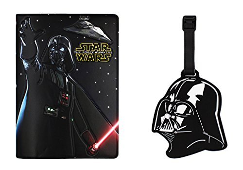 3D Passport Cover - Holder - for Men & Women - w/ Leather Luggage Tag (Star War)