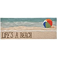 Area Rugs - Lifes a Beach Rug - 27 x 72 Runner - Beach Ball Rug - Indoor Outdoor Rug - Nautical Decor