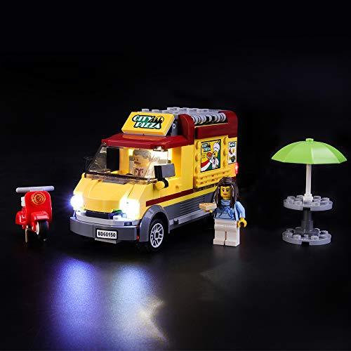 Juego de luces LIGHTAILING para bloques de construcción (City Pizza Van) - Kit de luces LED Compatible con Lego 60150 (NO incluido el modelo)