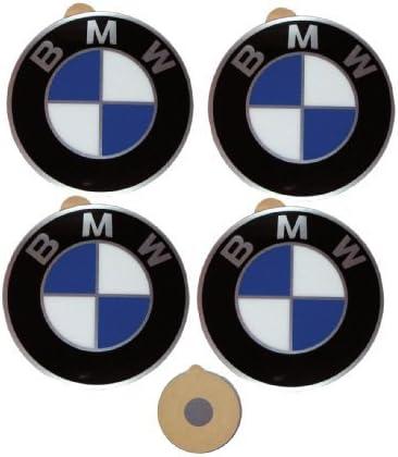 BMW Original Centro de la rueda Cap emblemas adhesivos pegatinas 45 mm: Amazon.es: Coche y moto