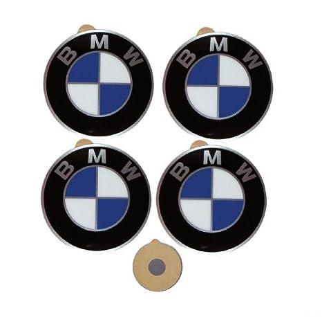 4 bmw genuine wheel center cap emblems decals stickers 64 5mm