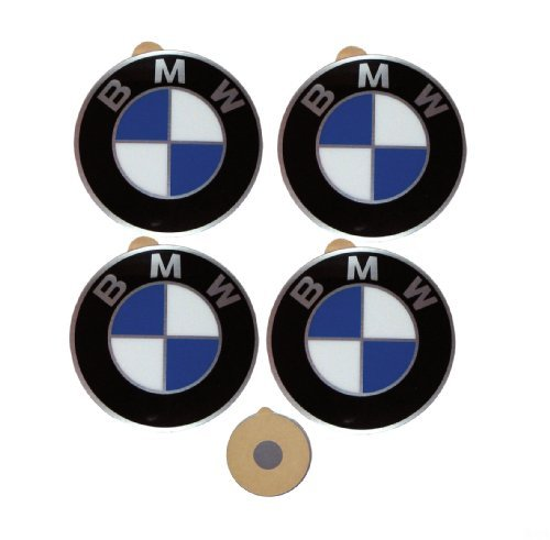 (BMW Genuine Wheel Center Cap Emblems Decals Stickers 45mm)
