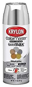 Krylon K05151102 Silver Interior and Exterior Decorator Paint - 11 oz. Aerosol