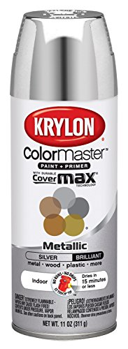 Interior Paint Aerosol - Krylon K05151102 Silver Interior and Exterior Decorator Paint - 11 oz. Aerosol