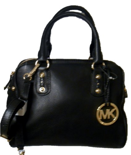 Michael Kors Black Leather Small Satchel Nwt
