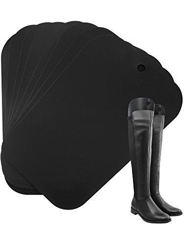 Bememo Boot Shaper Form Inserts Tall Boot Support for Women and Men, 8 Pieces for 4 Pairs of Boots (16 Inch, Black)