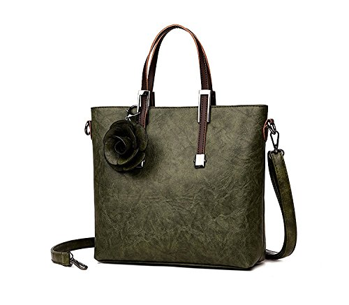 capacité à Sac tout Messenger bandoulière Bag Green Temperament féminine fourre épaule Mode grande Sac wqg0XxEB