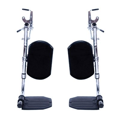 Invacare Corporation Wheelchair Hemi Elevating Legrest, Composite Foot Plates, WITHOUT (Elevating Legrest)
