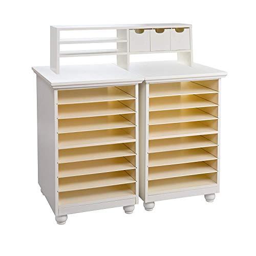 Anna Griffin Craft Room Paper Bin Storage Organizer, Antique White, Cream - Anna Griffin Scrapbook Paper