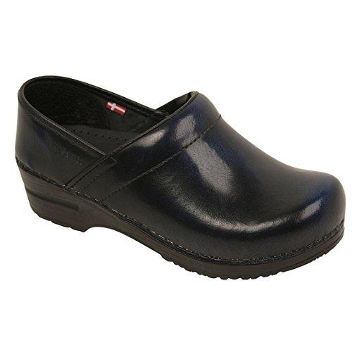 (Sanita Cabrio Blue in Brush-Off Leather )