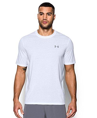 Under Armour Men's Threadborne Siro T-Shirt, White/Overcast Gray, X-Large