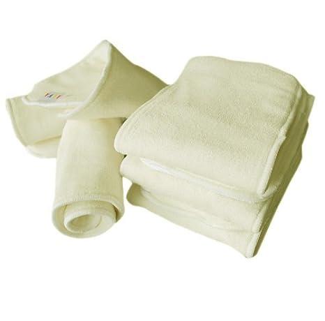 Amazon.com : ALVABABY pañales de Tela con 4 capas de fibra de bambú ...
